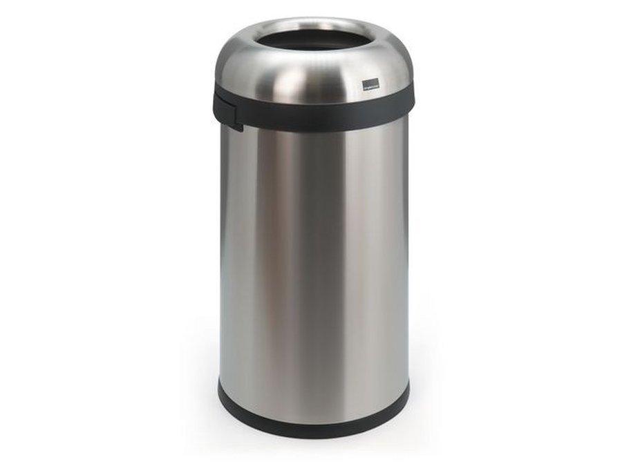 Tafel Prullenbak Rvs : Koop uw afvalbak rond inworpopening l mat rvs bij em