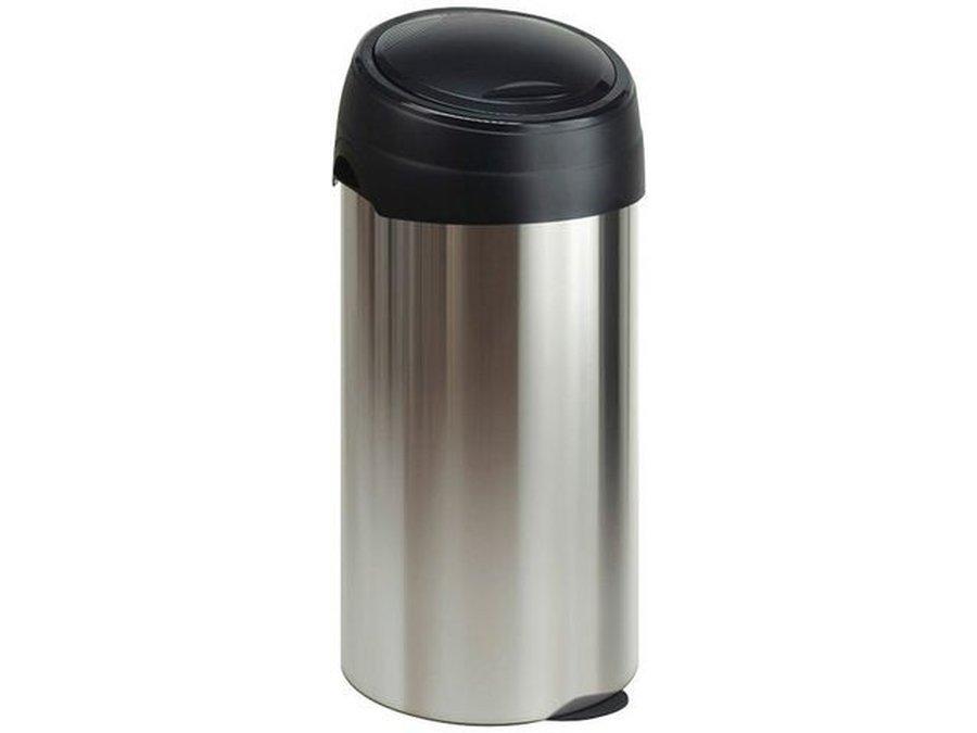 Tafel Prullenbak Rvs : Koop uw ronde afvalbak rvs look en top zwart bij em
